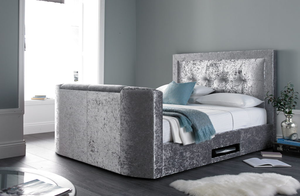 the bowburn king size tv bed 0 finance available tv bed store. Black Bedroom Furniture Sets. Home Design Ideas
