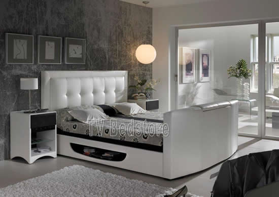 The Bowburn Super King Size TV Bed - TV Bed Store