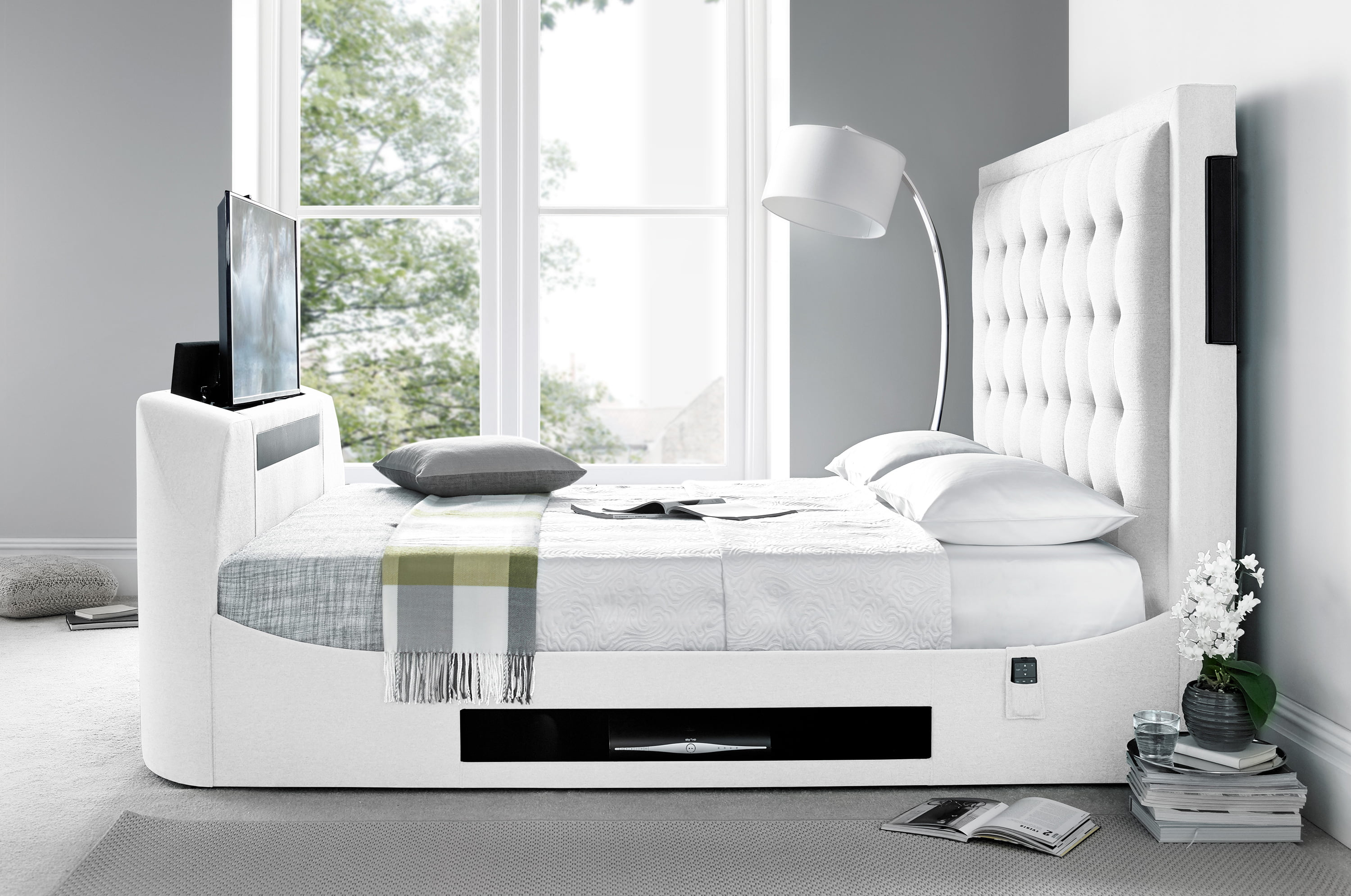 The Titan super king size TV bed frame - TV Bed Store