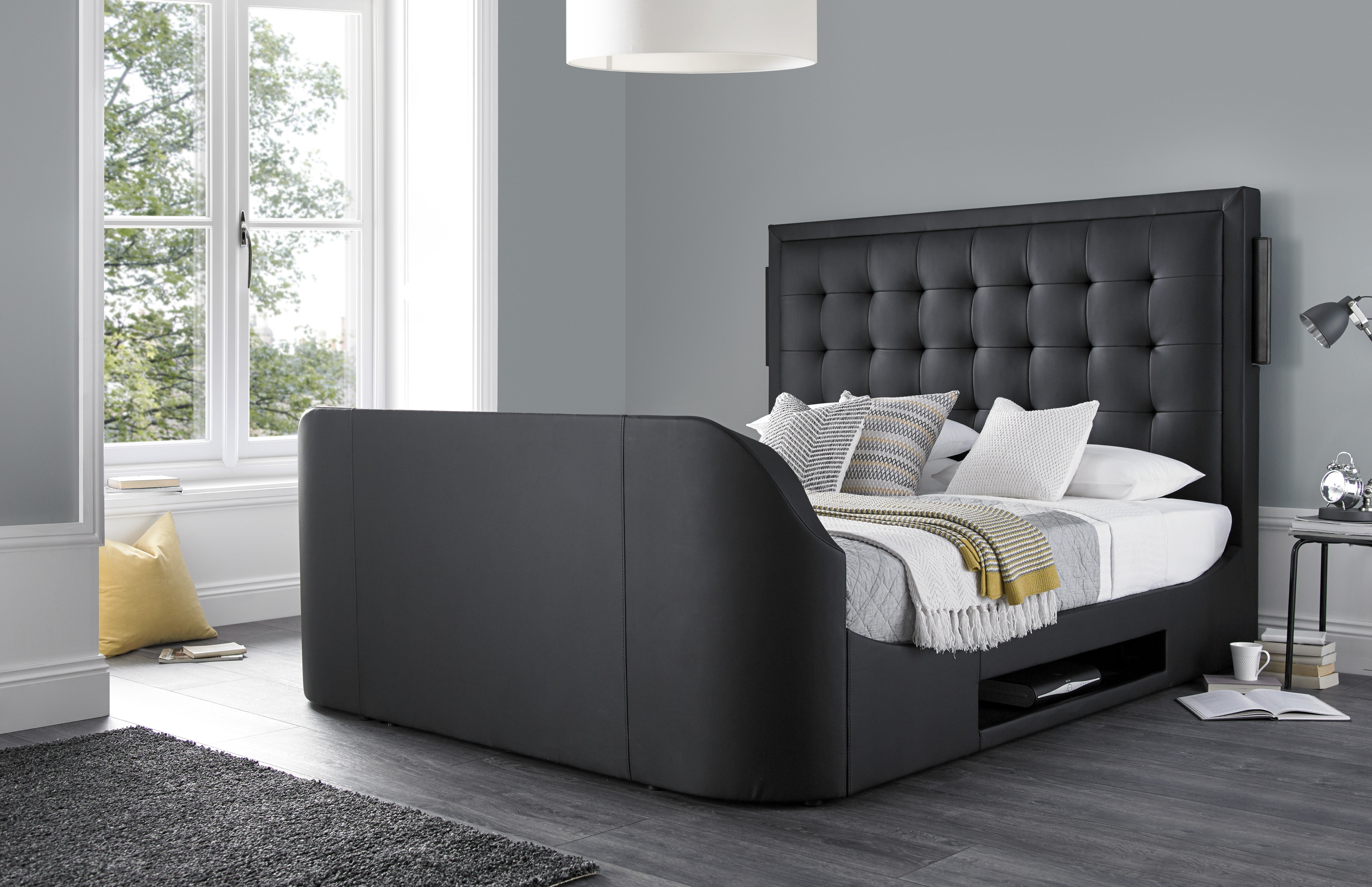 The Titan Super King Size Tv Bed Frame 0 Finance Available Tv