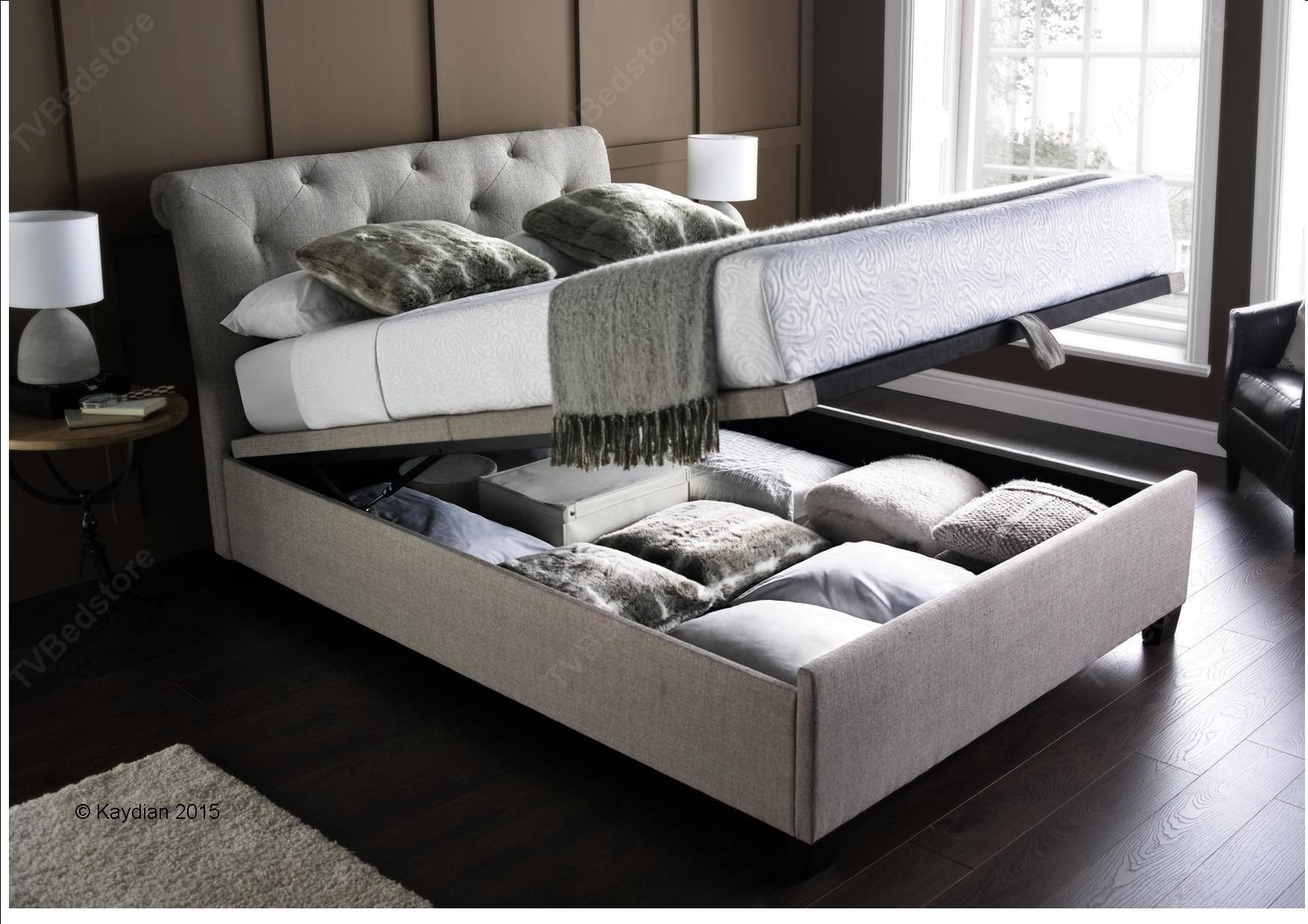 Kaydian Brunswick Super King Size Ottoman Storage Bed