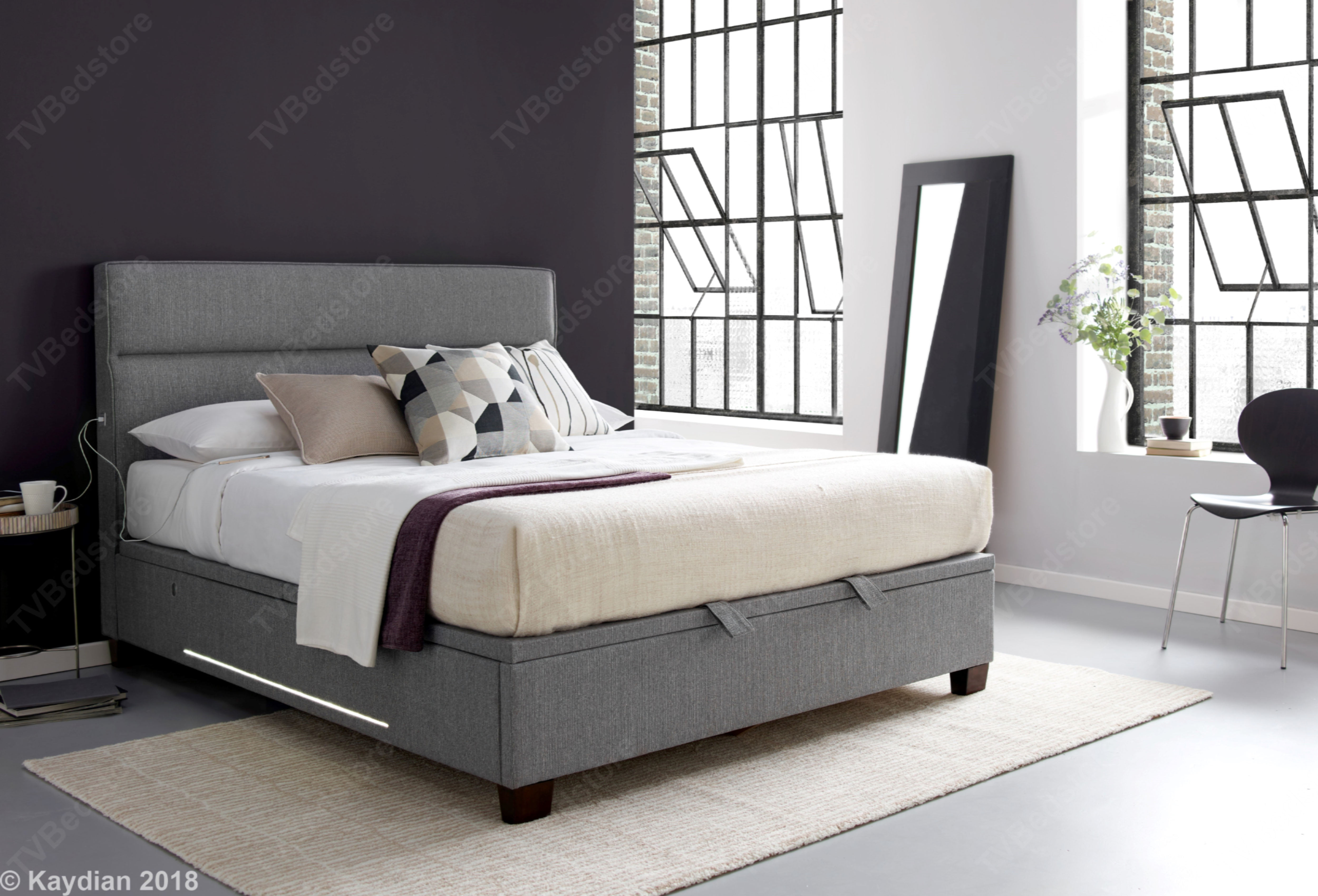 Kaydian Chilton Ottoman Storage Double Bed Frame Tv Bed Store