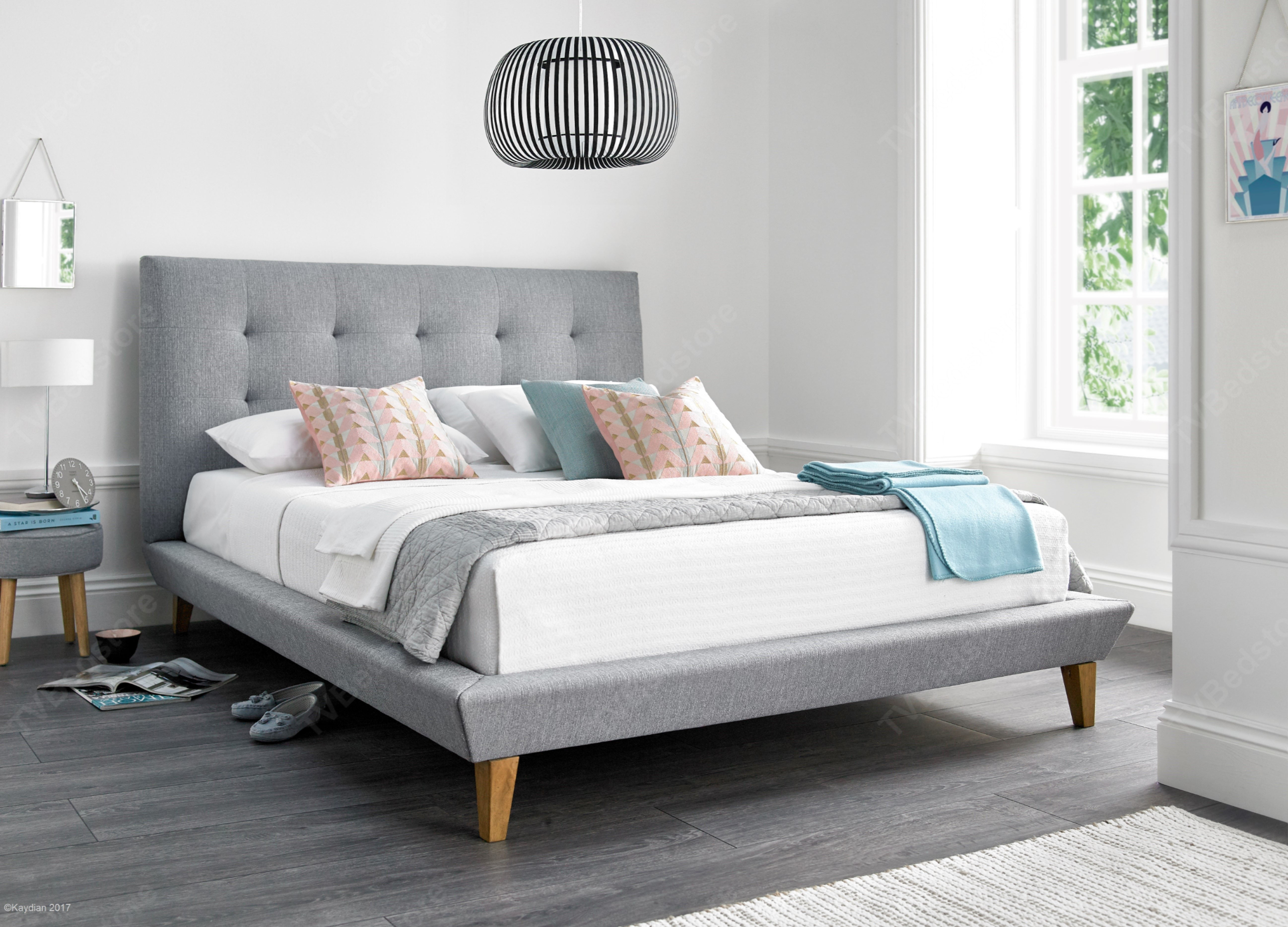 the latest 10328 bf63d Kaydian Marietta Fabric Double Bed Frame