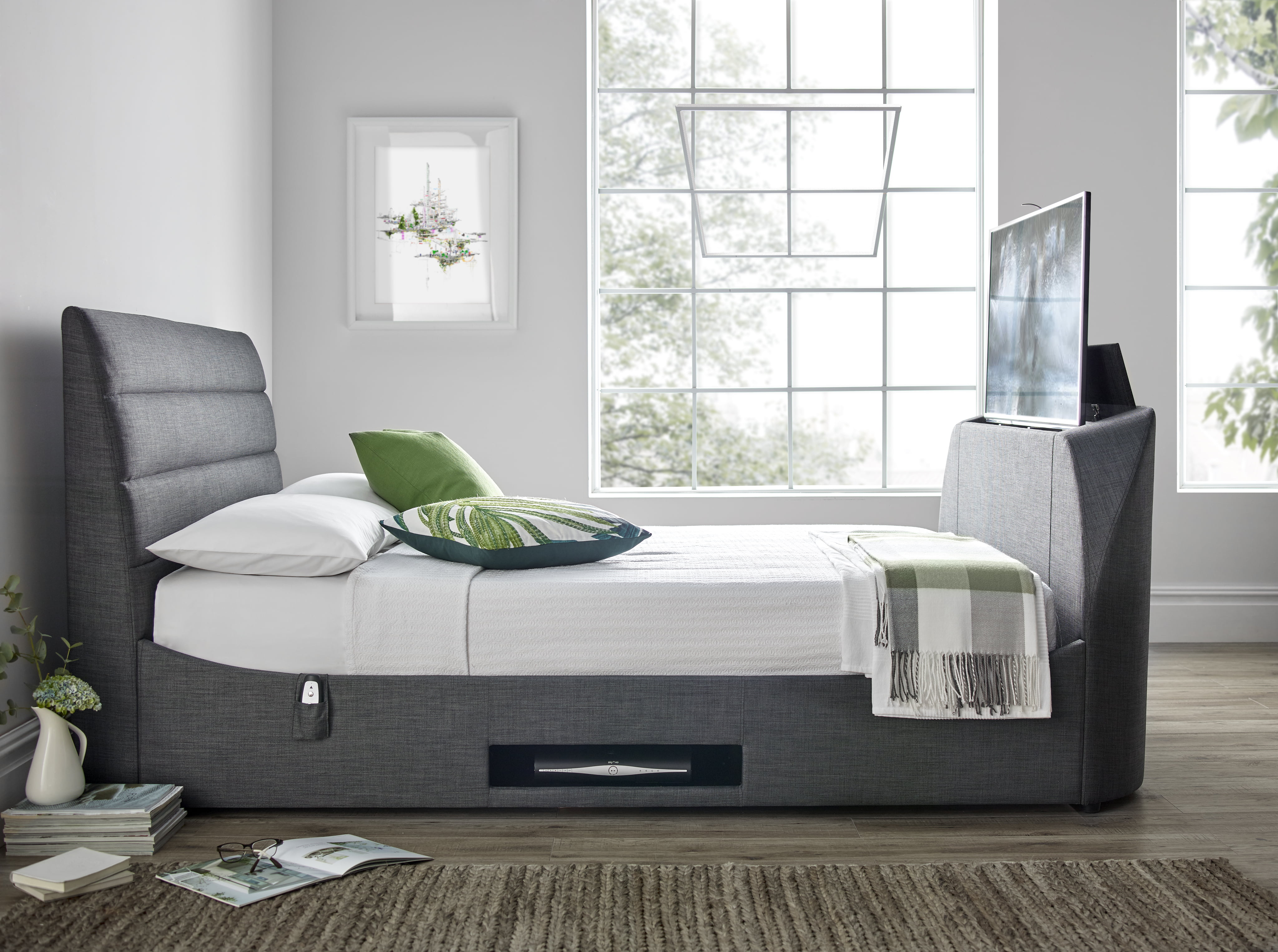 Avalon King Size Tv Bed Frame 0 Finance Available Tv Bed Store