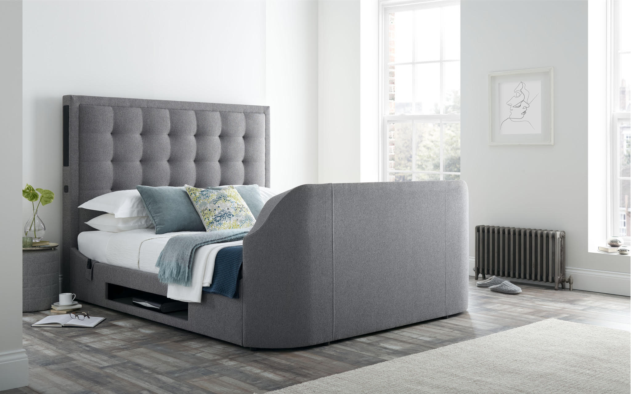 The Titan 2 King Size Tv Bed Frame 0 Finance Available Tv Bed Store